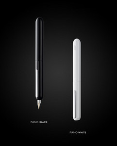 Lamy Pluma enfoque 3 brillante negro blanco que gira la pluma Alemania Mei Ling diálogo serie 14K negocio punta de oro BFTU #