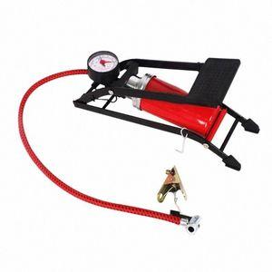 자동차 오토바이 자전거 완구 JhER 번호 자동차 인플레이션 펌프 풋 페달 타입 고압 공기 펌프 미니 휴대용 팽창기 기계