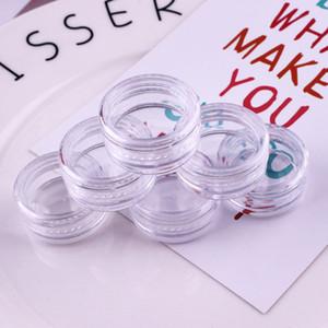 Kleines Transparent Sahnekasten kosmetischer Fall Probeflasche Container Plastikglas Pot Runde Schulter Leere klare Hand Schlauch Trennt 0 11wq B2