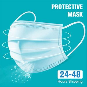 DHL 12Hours корабль! Маски одноразовые Маски одноразовые 3 слоя пылезащитные маски для лица Маски Защитная крышка Набор Anti-Dust Mask Free Ship