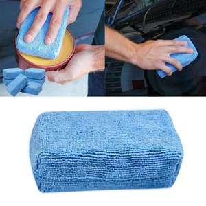 6 Pc Wash Cleaning Sponge Block Wax Sponge Block Car Cleaning Microfiber Terry Cloth Box Polished Car Accessories