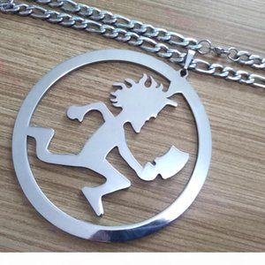 Super Large Stainless steel hatchetman in circle 5 inch ICP COOL charm BLAZE rydas TWIZTID abk PENDANT CHARMS Figaro CHAIN NECKLACE 9mm 32&#