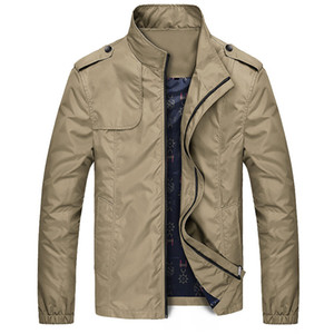 New Arrival Mens Jackets Autumn Casual Coats Solid Color Mens Sportswear Stand Collar Slim Jackets Male Bomber Size 5XL