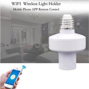 Smart WiFi Ampoule Socket E27 Ampoule adaptateur Support de lampe de contrôle intelligent sans fil compatible avec Google Alexa adjoint et IFTTT