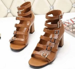 Newlassic High heeled sandals Wedge heel luxury Designer cowboy woman shoes Metal buckle for parties Occupation Sexy sandals 013 YS3