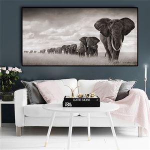 Afrika Filler Vahşi Hayvanlar Tuval Boyama İskandinavya Posterler ve Salon Ev Dekorasyonu için Baskılar Cuadros Wall Art Resimleri