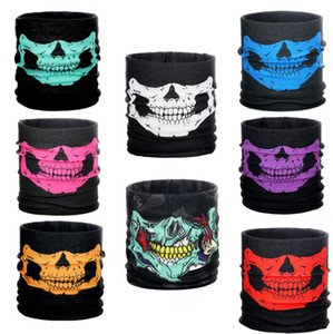 10styles New Motorcycle bicycle outdoor sports Neck Face Cosplay Mask Skull Mask Full Face Head Hood