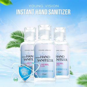 YOUNG VISION gel désinfectant pour les mains 55ml Gel Nettoyant Désinfectant main hydroalcoolique utilisation de Voyage à domicile sans lavage gel d'alcool instantanée