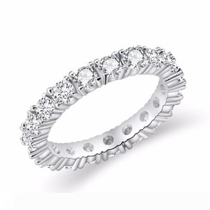 2019 Jewelry White Color Inlay Cubic Zirconia Unique Shaped Ring For Women Wedding Engagement Size