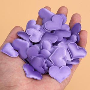 100 pcs Artificial Petals Love Heart Fake Sponge Heart Party Supplies Wedding Engagement Table Confetti Decoration (Purple)