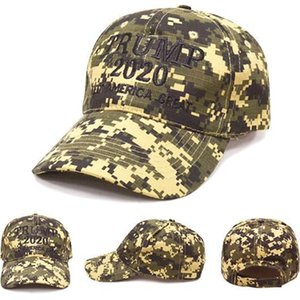 Embroidered Hat 2020 Trump Make America Great Again Hats Cotton Material Camouflage Green Grey Baseball Cap Hot Selling 11zg L1