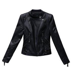 2020 New Autumn Women Pu Leather Jacket Woman Zipper Short Coat Female Black Punk Bomber Faux Leather Outwear spring Blazer