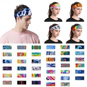 38 Art Tie-Dye-Stirnband Männer und Frauen Outdoor Sports Turban Yoga Turban Damen Kosmetik-Partei-Hüte XD23716