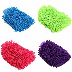 Car Wash Mikrofaser Chenille Handschuhe verdicken Soft Car Cleaning Wax Detaillierung Bürsten Auto Care Doppel Faced Glove Cleaning Tools Schwertwal #