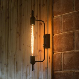 Luz retro Industrial país innovador restaurantes Bbalcony Corredor Etapa arte de la pared de la lámpara Negro UtnH #