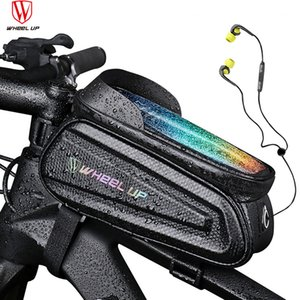 Bicycle Bag Front Top Tube Cycling Bag Waterproof Touchscreen 6.5 7.0 inch Phone Case Frame Handlebar Bag MTB Bike Accessories MX200717