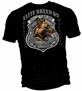 New Black T-Shirt With Elite Breed K- 9 Unit Law Police New Arrival T Shirt 2019 Designer Cool Brand Streetwear Make Tee Shirts