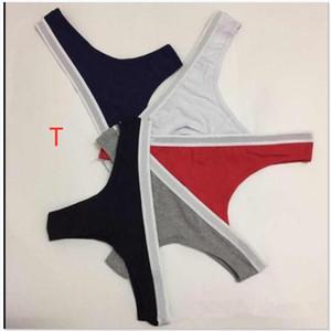 Womens Slip Cotton Donna Pantie a tesa larga lettere stampate intima bikini cinghia della G-stringa di T-back dei riassunti delle mutandine delle signore delle donne T