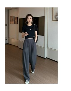 Trousers suit pants 2020 spring and autumn new loose loose straight straight high waist drop wide leg pants women