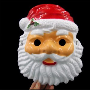 Máscaras Máscara de Navidad de Santa Claus adultas de la fiesta de los niños máscaras de Halloween de la cara llena del partido Puntales YYA201