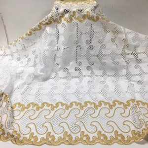 Tecido Lace Africano 2020 de alta qualidade do algodão bordado nigeriano Bazin Riche Getzner Tecido francês Lace Fabric