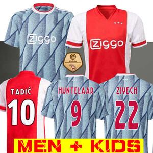 20 21 Ajax calcio maglia via PROMES ALVAREZ Ajax 2020 2021 camiseta de fútbo VAN DE BEEK TADIC ZIYECH CALCIO SHIRT UOMO BAMBINO SET uniforme
