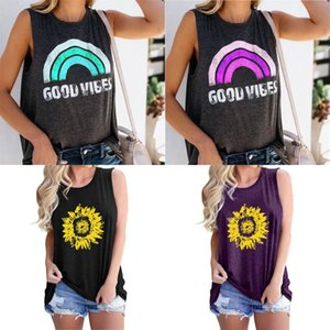 Striped Sleeveless Vest Tops Womens Lersure T Shirts Striped Printing Casual Tops American Flag Independence National Day USA 4Th July#749