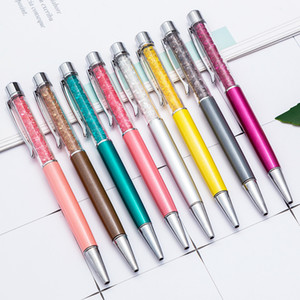 Classical jewelled crystal bling pen with diamond top assortment colors metal barrels promotional advertising gift crystal filled twist pen