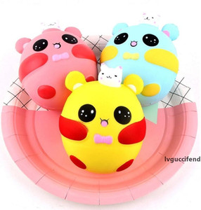 Bunny Rabbit Squishies Kawaii Slow Rising Charm Doll Squishi Jumbo Squeeze Kids Toy Phone Straps Anti-stress Toys 12cm 3 Designs YW1136