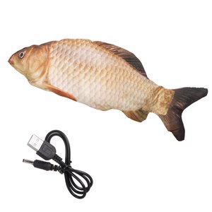 Electric Fish Toy Indoor Toy for Kids Cats Simulation Plush Fish Dancing Fish Cat Toy USB Charge Interactive Realistic Cat Kicker