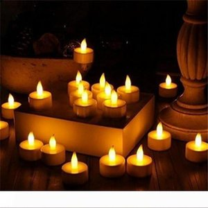 LED Tea Lights Flameless Votive Tealights Candle Flickering Bulb light Small Electric Fake Tea Candle Realistic for Wedding Table Gift ST127