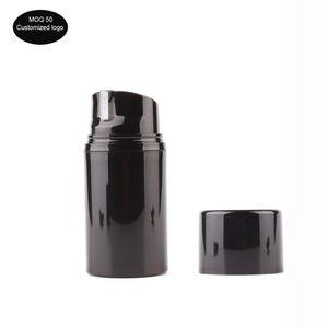 50 adet / çok 30 mi 50 mi 80 mi Kozmetik konteynerler için kullanılan 100 ml 120 ml 150 ml siyah PP havasız şişe vakum pompası şişe losyon şişesi