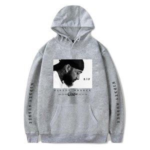 Nipsey Hussle Американский рэппер Сувенирная Толстовки Пуловеры 3D Печатные Сплошной цвет O шеи Блузы Мода Одежда мужская