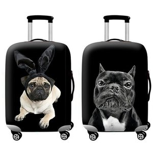 Travel Accessories Luggage Suitcase Protection Baggage Dust Cover Trunk Set Trolley Case Elasticity Bulldog Pattern T200710