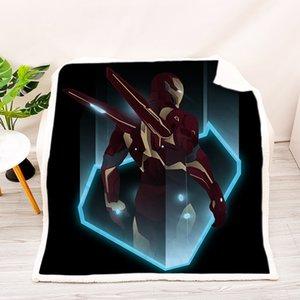 Cross-Border Commercio estero personalizzato Avengers Sleeping portatile Carry Inverno Quilt trapunta della coperta Nap copertura della coperta Blanket Aggiungi Box L