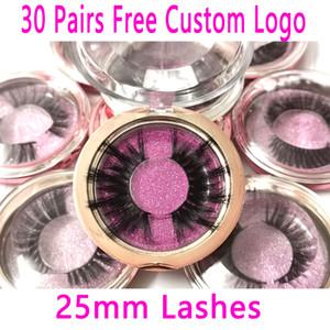 30Pairs lot 25mm Lashes 3DMink Eyelashes Criss-cross Eyelashes Cruelty Free Volume Mink Lashes Dramatic Eye lashes Makeup Tools
