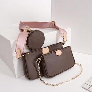 أفضل نوعية الكتف حقيبة المرأة حقائب السيدات الكلاسيكية متعددة الوظائف حقائب محفظة ثلاث قطع تناسب مع نموذج الصندوق M44823 M44840