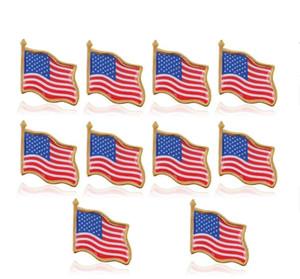 Bandera americana de solapa Estados Unidos EE.UU. Sombrero tachuela de lazo insignia pines Mini broches para la ropa Bolsas Decoración GD