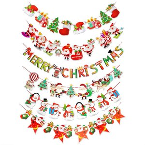 Christmas garland Christmas Decoration For Home 2018 Tree Ornaments Santa Snowman Noel Flags Garland New Year 2019