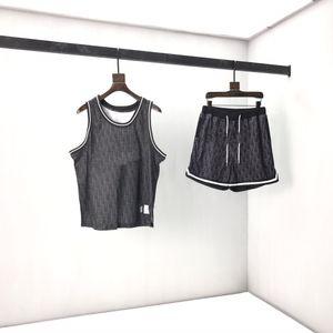 Spring summer 2020 patch embroidery letter vest Shorts Set classic old flower base print size: smlxl size spot 206