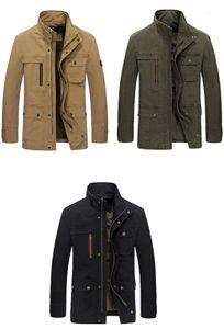 Cep Fermuar Fly Erkekler Tasarımcı Coats İlkbahar Sonbahar Casual Rahat Jackeets Boyun Gevşek Erkek Kabanlar Standı