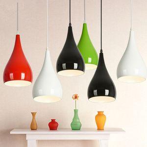 Modern Colorful Aluminum Pendant Lamp Restaurant Hanging Pendant Light E27 For Living Room Dinning Room Kitchen Fixture lighting