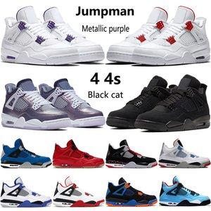 2020 новые 4 4s Jumpman баскетбол обувь OVO Splatter металлическая фиолетовый красный зеленый разводили черного кот на открытом воздух мужских кроссовок США 7-13