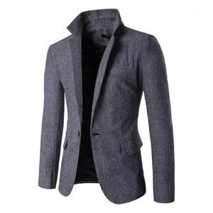Long Sleeve Mens Blazers with Pockets Casual Male Outerwears Mens Designer Blazers Single Button V Neck Slim Man Blazers