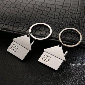 Creative House Keyring Metal Car Keychain Unisex Portable Key Chain Outdoor Mini Key Ring Backpack Bag Pendant Gift Customizable DBC VT1549