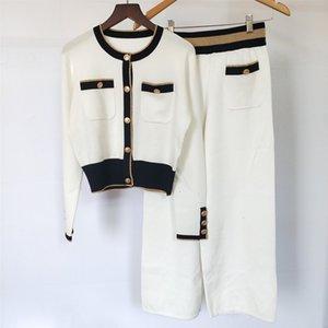 19 Color Collision Pocket Jacket Plus Broad Foot Pants 2 Piece Set y7 D2ZX X9VB X9VB