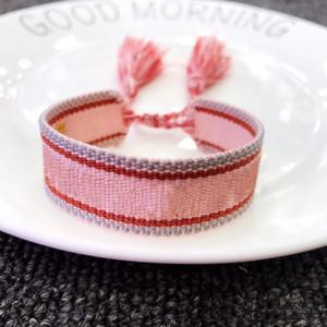 New Brand Fashion fabric Sisters bracelet Women Cotton Letter Signature friendship Bracelet Woven Bangle Tassel Lace-up Bracelet CX200724