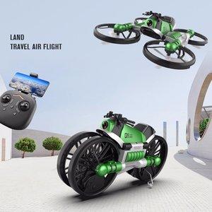 S91 Drone Creative RC moto et Drone 2.4G WiFi Dual-Mode Transforming Moto Quadcopter 1080 Caméra HD RC Drone