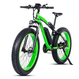 Elektro-Fahrrad 26 * 4.0inch Aluminium elektrisches Fahrrad 48V17A 1000W 40KM / H 6g Leistungsstarke Fat Tire Bike Mountain snow ebike