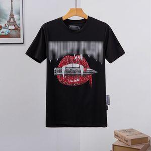 concepteur mens T-shirts pour hommes Crâne T-shirt d'impression de haute qualité t-shirt réaction en chaîne Tees Phillip plaine ancien phillip plaine PP yy93